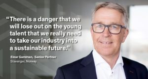 young talent and sustainable future Einar Gamman quote