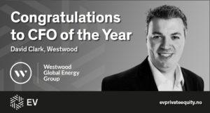 CFO of the Year David Westwood Westwood Energy Group